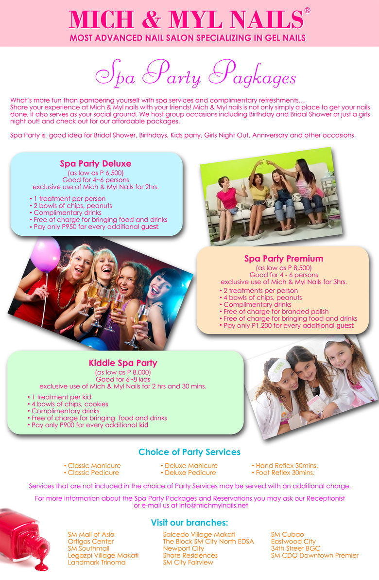 Services Nail Salon & Price List